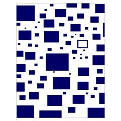 Blue Squares Textures Plaid Drawstring Bag (large) by Alisyart