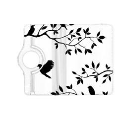 Bird Tree Black Kindle Fire Hd (2013) Flip 360 Case by Alisyart
