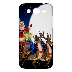 Christmas Reindeer Santa Claus Snow Night Moon Blue Sky Samsung Galaxy Mega 5 8 I9152 Hardshell Case  by Alisyart