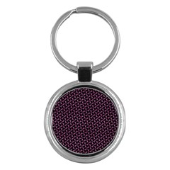 Twisted Mesh Pattern Purple Black Key Chains (round)  by Alisyart