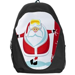 Christmas Santa Claus Backpack Bag by Alisyart