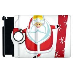 Christmas Santa Claus Apple Ipad 3/4 Flip 360 Case by Alisyart