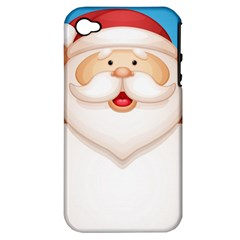 Christmas Santa Claus Letter Apple Iphone 4/4s Hardshell Case (pc+silicone) by Alisyart
