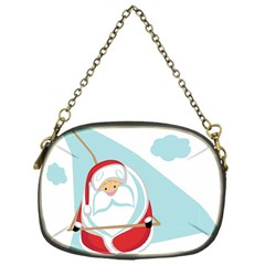 Christmas Santa Claus Paragliding Chain Purses (one Side)  by Alisyart