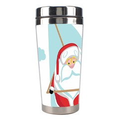 Christmas Santa Claus Paragliding Stainless Steel Travel Tumblers by Alisyart
