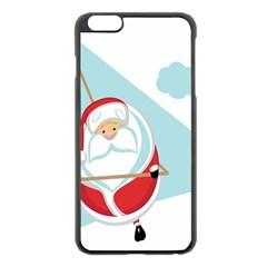 Christmas Santa Claus Paragliding Apple Iphone 6 Plus/6s Plus Black Enamel Case by Alisyart