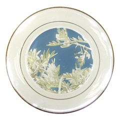 Nature Pattern Porcelain Plates by dflcprintsclothing