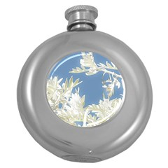 Nature Pattern Round Hip Flask (5 Oz) by dflcprintsclothing