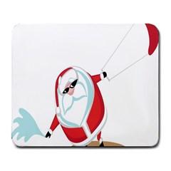 Christmas Santa Claus Snow Cool Sky Large Mousepads by Alisyart