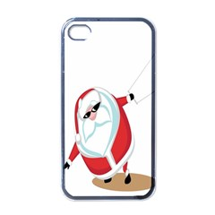 Christmas Santa Claus Snow Cool Sky Apple Iphone 4 Case (black) by Alisyart