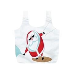 Christmas Santa Claus Snow Cool Sky Full Print Recycle Bags (s)  by Alisyart