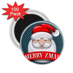 Christmas Santa Claus Xmas 2 25  Magnets (100 Pack)  by Alisyart