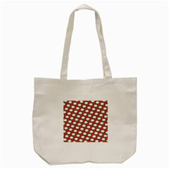 Christmas Star Red Green Tote Bag (cream) by Alisyart