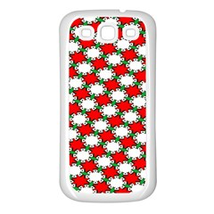 Christmas Star Red Green Samsung Galaxy S3 Back Case (white) by Alisyart