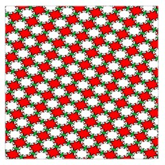 Christmas Star Red Green Large Satin Scarf (square) by Alisyart