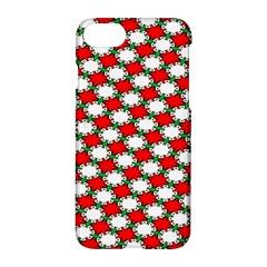 Christmas Star Red Green Apple Iphone 7 Hardshell Case by Alisyart