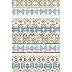 Christmas Star Flower Red Blue 5 5  X 8 5  Notebooks by Alisyart