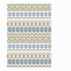 Christmas Star Flower Red Blue Small Garden Flag (two Sides) by Alisyart