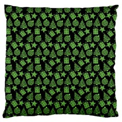 Christmas Pattern Gif Star Tree Happy Green Standard Flano Cushion Case (one Side) by Alisyart