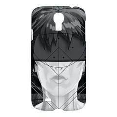 Beautiful Bnw Fractal Feathers For Major Motoko Samsung Galaxy S4 I9500/i9505 Hardshell Case by beautifulfractals