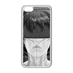 Beautiful Bnw Fractal Feathers For Major Motoko Apple Iphone 5c Seamless Case (white) by beautifulfractals