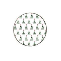 Christmas Tree Green Star Red Hat Clip Ball Marker by Alisyart