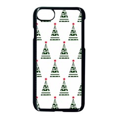 Christmas Tree Green Star Red Apple Iphone 8 Seamless Case (black) by Alisyart