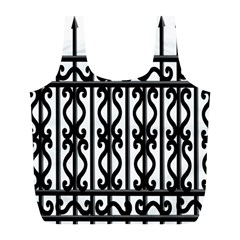 Inspirative Iron Gate Fence Grey Black Full Print Recycle Bags (l)  by Alisyart