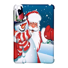 Hello Merry Christmas Santa Claus Snow Blue Sky Apple Ipad Mini Hardshell Case (compatible With Smart Cover) by Alisyart
