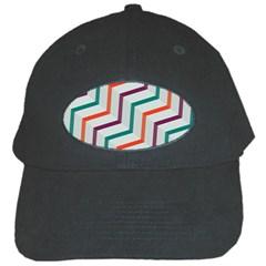 Line Color Rainbow Black Cap by Alisyart