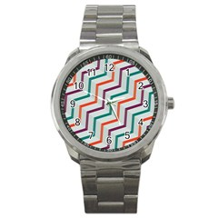 Line Color Rainbow Sport Metal Watch by Alisyart