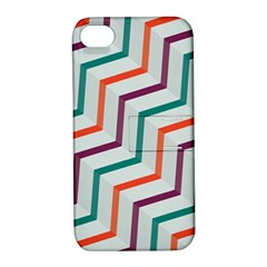 Line Color Rainbow Apple Iphone 4/4s Hardshell Case With Stand by Alisyart