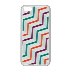Line Color Rainbow Apple Iphone 5c Seamless Case (white) by Alisyart