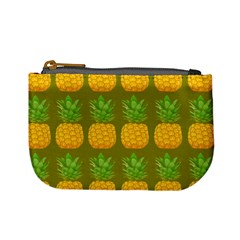 Fruite Pineapple Yellow Green Orange Mini Coin Purses by Alisyart
