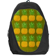 Fruite Pineapple Yellow Green Orange Backpack Bag by Alisyart