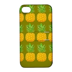 Fruite Pineapple Yellow Green Orange Apple Iphone 4/4s Hardshell Case With Stand by Alisyart