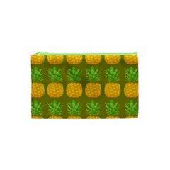 Fruite Pineapple Yellow Green Orange Cosmetic Bag (xs) by Alisyart