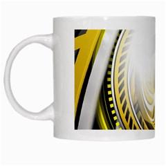 Incredible Eye Of A Yellow Construction Robot White Mugs by beautifulfractals