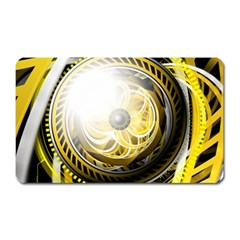 Incredible Eye Of A Yellow Construction Robot Magnet (rectangular) by beautifulfractals