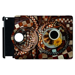 Midnight Never Ends, A Red Checkered Diner Fractal Apple Ipad 3/4 Flip 360 Case by beautifulfractals