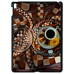 Midnight Never Ends, A Red Checkered Diner Fractal Apple Ipad Pro 9 7   Black Seamless Case by beautifulfractals