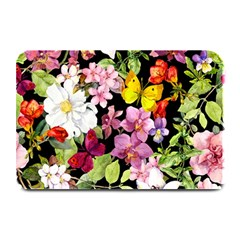 Beautiful,floral,hand Painted, Flowers,black,background,modern,trendy,girly,retro Plate Mats by 8fugoso