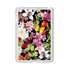 Beautiful,floral,hand Painted, Flowers,black,background,modern,trendy,girly,retro Ipad Mini 2 Enamel Coated Cases by 8fugoso