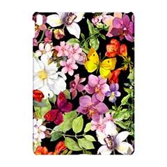 Beautiful,floral,hand Painted, Flowers,black,background,modern,trendy,girly,retro Apple Ipad Pro 10 5   Hardshell Case by 8fugoso