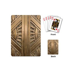 Art Deco Gold Door Playing Cards (mini)  by 8fugoso