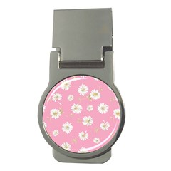 Pink Flowers Money Clips (round)  by 8fugoso