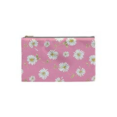 Pink Flowers Cosmetic Bag (small)  by 8fugoso