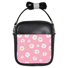 Pink Flowers Girls Sling Bags by 8fugoso