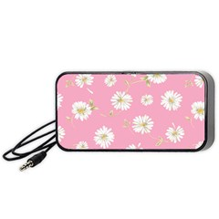 Pink Flowers Portable Speaker by 8fugoso