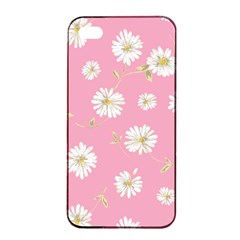 Pink Flowers Apple Iphone 4/4s Seamless Case (black) by 8fugoso